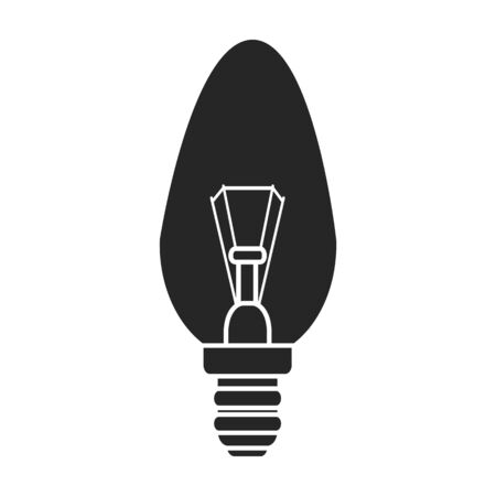 Electric lamp vector icon.Black vector icon isolated on white background electric lamp.
