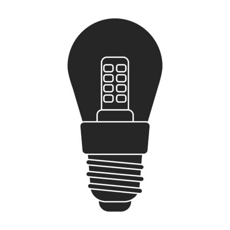 Iight bulb vector icon.Black vector icon isolated on white background light bulb.