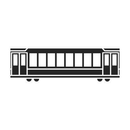 Train of metro vector icon.Black vector icon isolated on white background train of metro .