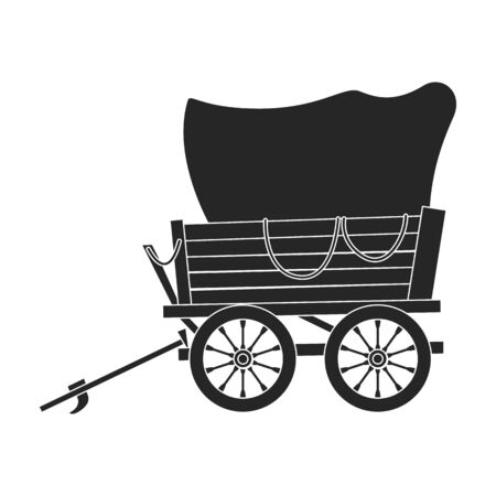 Wild west wagon vector icon.Black vector icon isolated on white background wild west wagon . Stock fotó - 138155667