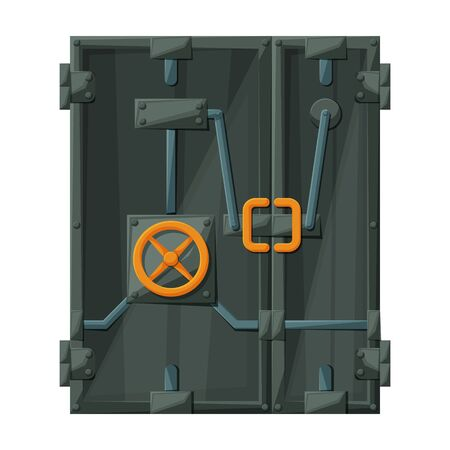Safety door vector icon.Cartoon vector icon isolated on white background safety door .