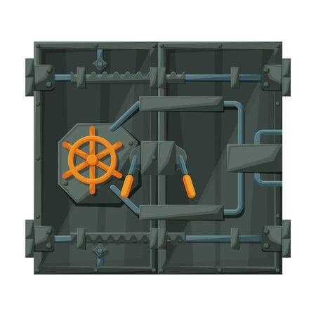Door of storage vector icon.Cartoon vector icon isolated on white background door of storage .