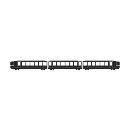 Subway train vector icon.Black vector icon isolated on white background subway train.