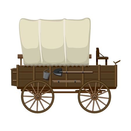 Western carriage vector icon.Cartoon vector icon isolated on white background western carriage. Illusztráció
