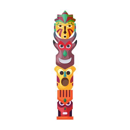 Ikona wektor maski plemienne. Ikona wektor kreskówka na białym tle maski plemienne. Ilustracje wektorowe