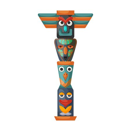 Totem vector icon.Cartoon vector isolated on white background totem.