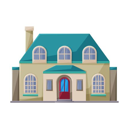 Villa of house vector icon.Cartoon vector isolated on white background villa of house .