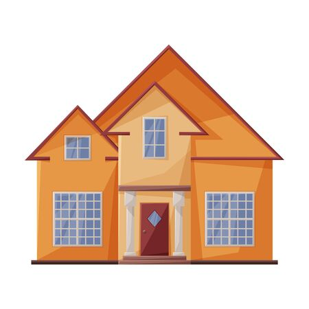 Villa of house vector icon.Cartoon vector icon isolated on white background villa of house .