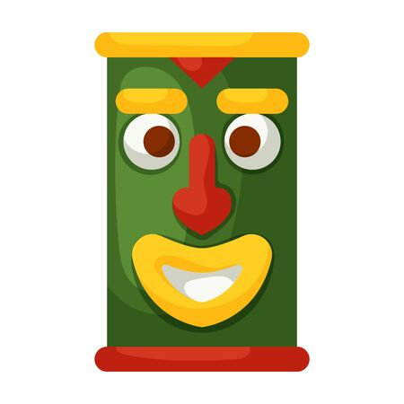 Mask of totem vector icon.Cartoon vector icon isolated on white background mask of totem .