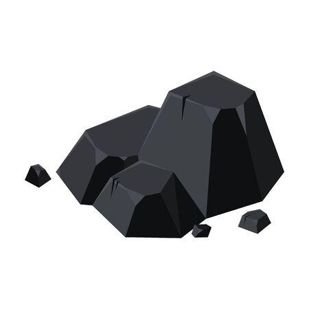 Charcoal vector icon.Cartoon vector icon isolated on white background charcoal. Vektoros illusztráció