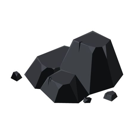 Icône de vecteur de charbon de bois. Icône de vecteur de dessin animé isolé sur fond blanc charbon de bois. Vecteurs