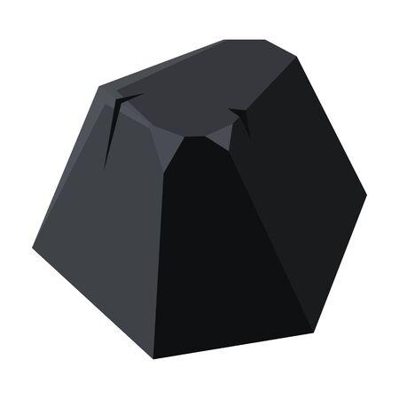 Coal of energy vector icon.Cartoon vector icon isolated on white background coal of energy.