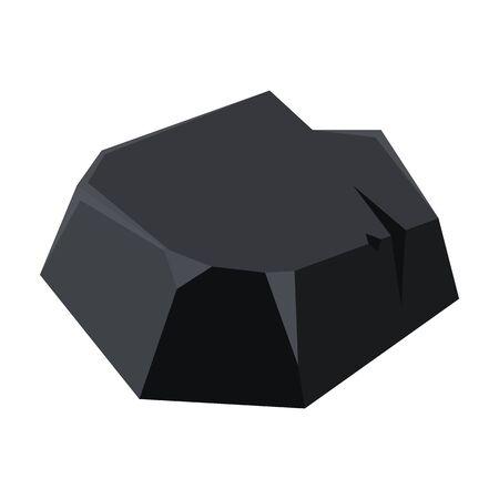 Coal of energy vector icon.Cartoon vector icon isolated on white background coal of energy. Foto de archivo - 138155807