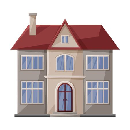 Icono de vector de villa de casa. Icono de vector de dibujos animados aislado sobre fondo blanco villa de casa.