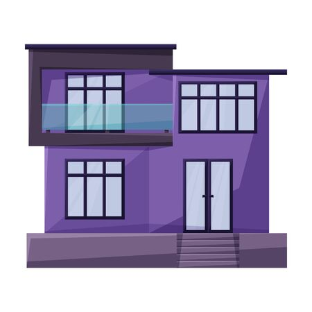 Building of apartment vector icon.Cartoon vector icon isolated on white background building of apartment.