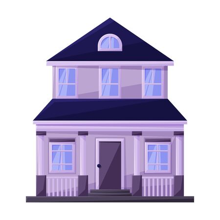 Budynek mieszkania wektor ikona.Kreskówka wektor ikona na białym tle budynek mieszkania. Ilustracje wektorowe