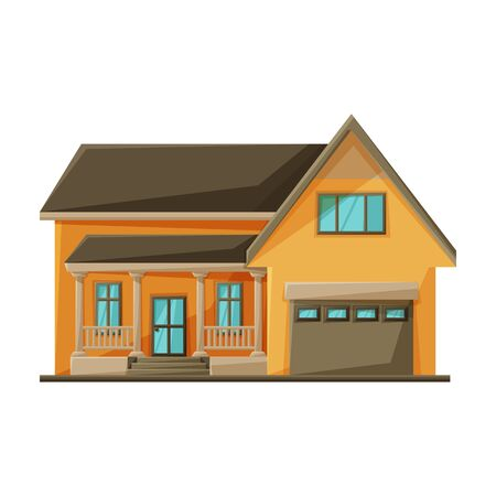 Building of apartment vector icon.Cartoon vector logo isolated on white background building of apartment.