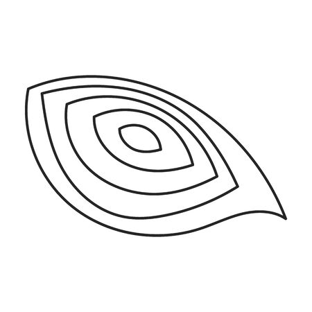 Beet vector icon.Line vector icon isolated on white background beet . Illusztráció