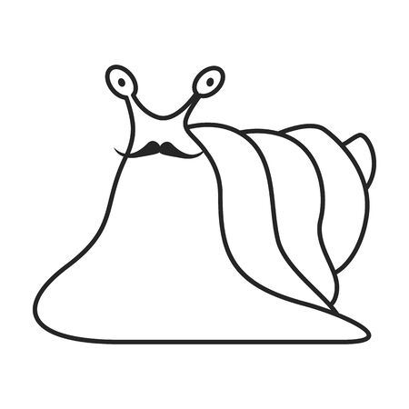 Animal snail vector icon.Line vector icon isolated on white background animal snail.