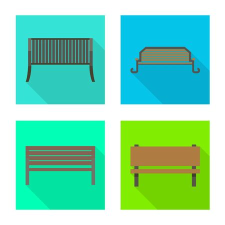 Vector design of seat and architecture icon. Set of seat and construction stock vector illustration. Foto de archivo - 138234422