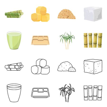 Vector design of industry and sugarcane symbol. Collection of industry and tropical stock symbol for web. Stock fotó - 138234477