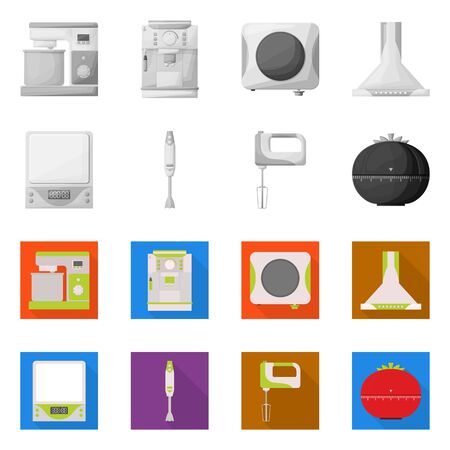 Isolated object of tool and equipment icon. Set of tool and domestic stock vector illustration.