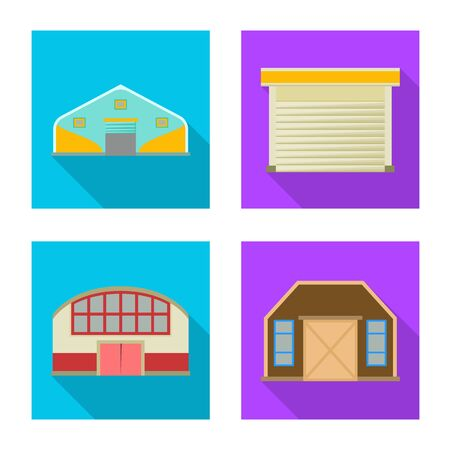 Isolated object of architecture and facade . Set of architecture and construction stock symbol for web. Иллюстрация