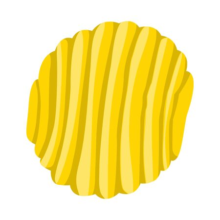 Vector design of chip and fluted . Web element of chip and healthy stock symbol for web. Иллюстрация