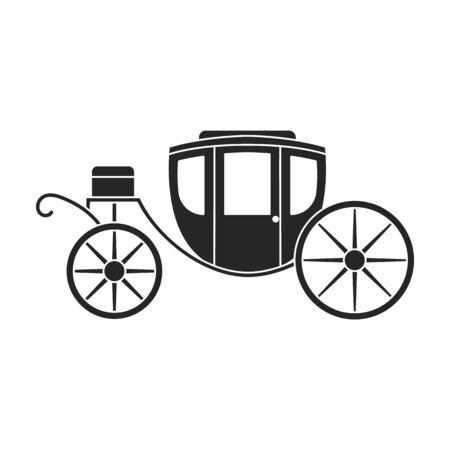 Vintage carriage vector icon.Black,simple vector icon vintage carriage isolated on white background .