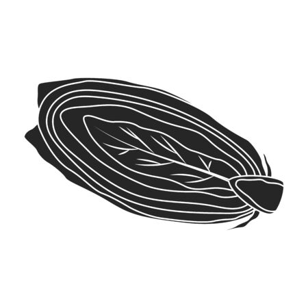Cabbage vector icon.Black,simple vector icon isolated on white background cabbage. Illustration