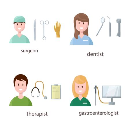 Isolated object of hospital and healthcare icon. Set of hospital and health stock symbol for web.