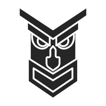 Mask of totem vector icon.Black vector icon isolated on white background mask of totem .