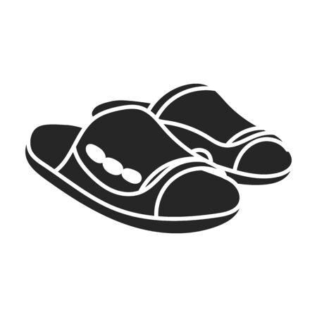 Icono de vector de sandalia Icono de vector negro aislado sobre fondo blanco sandalia.