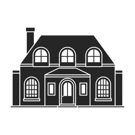Icône de vecteur de villa de maison. Noir, icône de vecteur simple isolé sur fond blanc villa de maison.