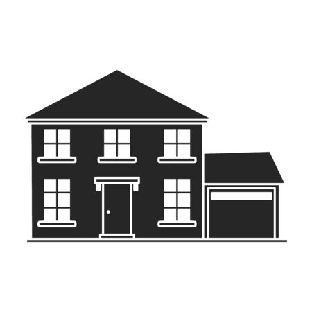 Villa of house vector icon.Black,simple vector icon isolated on white background villa of house .