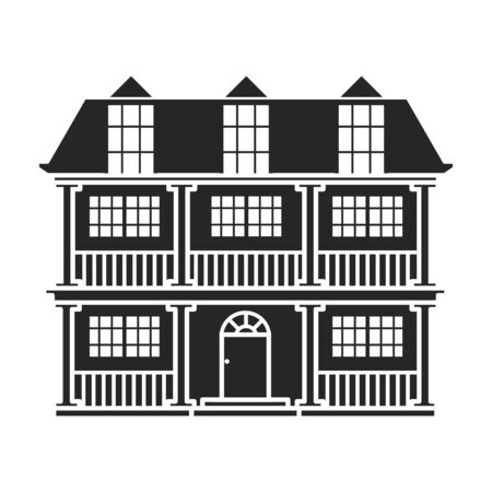 Costruzione dell'icona di vettore dell'appartamento. Icona di vettore nero e semplice isolato su priorità bassa bianca