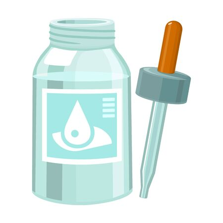 Dropper of bottle vector icon.Cartoon vector icon isolated on white background dropper of bottle .