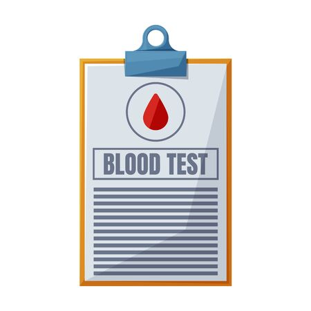 Blood test vector icon.Cartoon vector icon isolated on white background blood test. Illustration