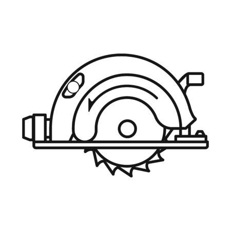 Conception de vecteur de signe de scie et de coupeur. Élément Web de l'illustration vectorielle stock scie et lame. Vecteurs