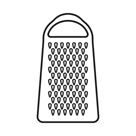 Vector illustration of grater and flatware symbol. Web element of grater and instrument stock vector illustration. Vetores