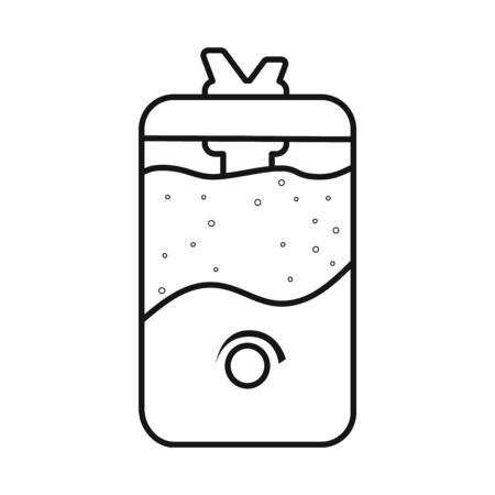 Isolated object of humidifier and machine logo. Graphic of humidifier and moisturizer vector icon for stock.