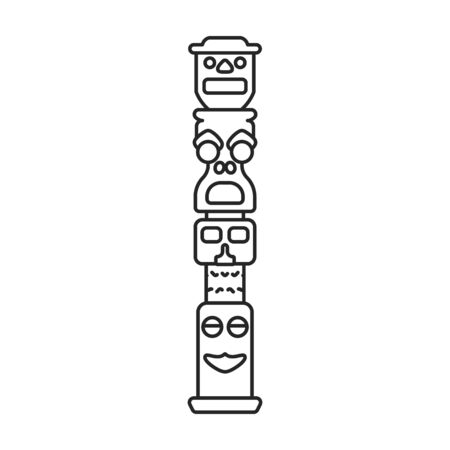 Totem vector icon.Line vector icon isolated on white background totem.