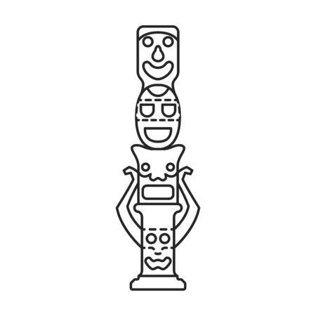 Totem vector icon.Line vector icon isolated on white background totem. Vektoros illusztráció