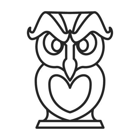 Icône de vecteur de masque de totem. Icône de vecteur de ligne isolé sur fond blanc masque de totem.
