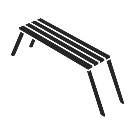 Park bench vector icon.Black.simple vector icon isolated on white background park bench.