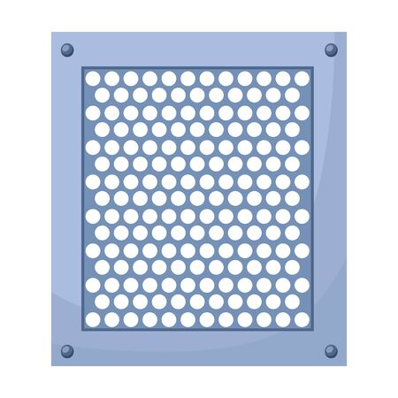 Ventilation grate vector icon.Cartoon vector icon isolated on white background ventilation grate. Vetores