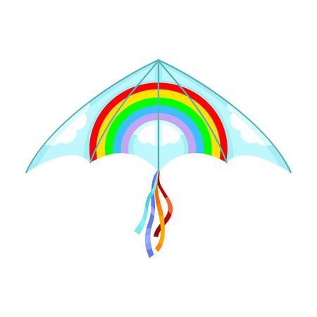 Kite vector icon.Cartoon vector icon isolated on white background kite . Vettoriali