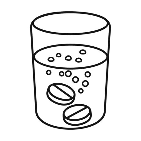 Glass of water vector icon.Outline,line vector icon isolated on white background glass of water.