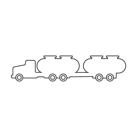 Truck vector icon.outline vector icon isolated on white background truck .
