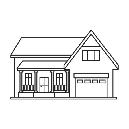 Building of apartment vector icon.Outline,line vector logo isolated on white background building of apartment. Logo